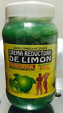 NEW SEALED CREMA REDUCTORA DE LIMON BOTE 18oz.  Lemon Body Wrap Cream