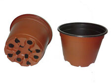 100 NEW 4 Inch TEKU Plastic Nursery Pots. Varied Colors, Green, Terracotta Black