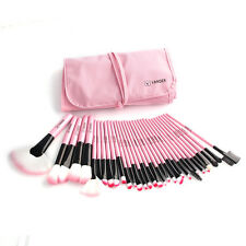 32pcs Pink Professional Superior Soft Cosmetic Makeup Brush Set + Pouch Bag Case