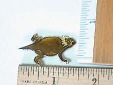 Horned Toad Lizard Pin  ,  Hat,  lapel, tie Tack Pin  (Lg)
