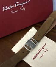 $440 SALVATORE FERRAGAMO Sardegna Buckle Adjustable BELT SZ 33-34