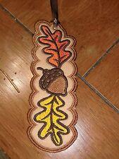 Embroidered Bookmark Felt - Fall - Leaves & Acorns