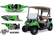 EZ GO Golf Cart Wrap Graphics Vinyl Sticker Decal Kit EZGO 1996-2010 CIRCUS GREN