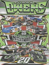 "2016 JIMMY OWENS ""25 YEARS OF NIGHTMARES R&W"" #20 DIRT LATE MODEL POSTCARD"