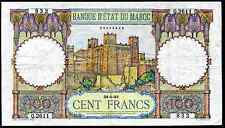 Morocco. 100 Francs, 65265832. 24-1-47, Good Fine.