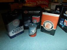 HARLEY DAVIDSON REPO OIL CAN'S NEW IN BOX SET OF 3