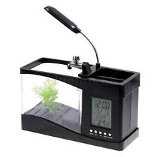 USB Rechargeable Plastic Mini Small Fish Tank Black Q3B7