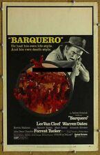BARQUERO, 1970, Lee Van Cleef, Warren Oates, U.S. Window Card, excellent cond.