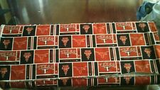 UNIVERSITY OF TEXAS LONGHORNS 100% COTTON FABRIC 19X43 INCHES