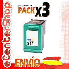 3 Cartuchos Tinta Color HP 343 Reman HP Deskjet 5745