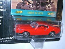 Johnny Lightning~James Bond 007~1971 Mustang Fastback~Red~Diamonds are Forever