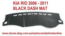 DASH MAT, BLACK DASHMAT, DASHBOARD COVER FIT KIA RIO 2006-2011, BLACK