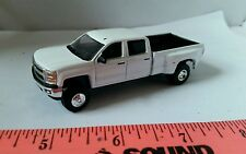 1/64 CUSTOM 2015 chevrolet chevy 3500 duramax dually pickup truck ERTL farm toy