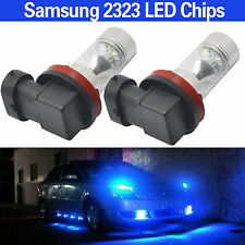 H8 Fog Light Samsung 2323 60W 12SMD LED 10000k Blue Projector Driving DRL Bulbs