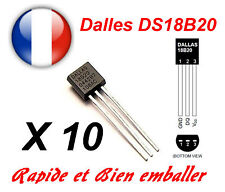 10 X Dallas DS18B20 1-Wire Digital Thermometer TO-92