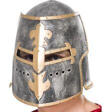 Chevalier croisade médiévale pour homme casque chapeau robe fantaisie nouveau par smiffys