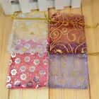 WHOLESALE LOT 100 PCS WEDDING ORGANZA CHINESE SILK JEWELRY POUCH GIFT BAGS Bag01