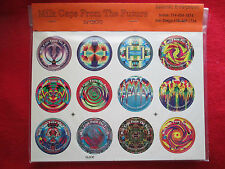Unpunched 1993 Milk Caps From The Future SGI complete set of 24 pogs caps tasos