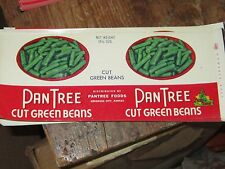 Vintage PanTree brand food labels unused lot retro canning Kansas Green Beans