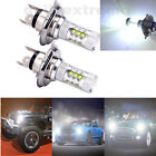 2 X H4 9003 HB2 White 80W CREE LED Fog Light Bulb High Low Beam Headlight 1500LM