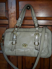 Coach Chelsea Legacy Tan Patent Leather Satchel Bag 14030 Great Bag