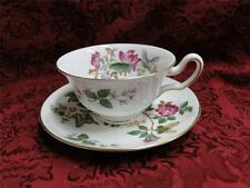 Wedgwood Charnwood, Flowers, Butterflies, Gold Trim: Cup & Saucer Set (s)