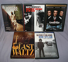 LOT - 5 Martin Scorsese Movies on DVD - Goodfellas, Bob Dylan, Last Waltz & More