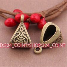 P519 15pcs Antique Bronze Charms Pendant Hanger Bails Necklace Connector