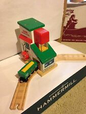 SODOR GRAIN & FEED BUILDING W/ CAR Thomas the Train Tank Wooden Railway Engine
