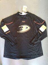 Anaheim Ducks NEW Mens XLarge Jersey L/S Shirt NHL Hockey Reebok Fan Tee NWT XL