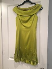 Karen Millen Designer Silk Dress Size 6 , Beautiful Green