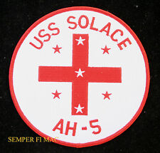 USS SOLACE AH-5 COLLECTOR PATCH WORLD WAR II HOSPITAL SHIP CORPSMAN PEARL HARBOR