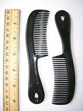 "6 pcs. 6"" BLACK PLASTIC MENS BOYS POCKET HANDLE HAIR COMBS BRUSH AFRO FRO STYLER"