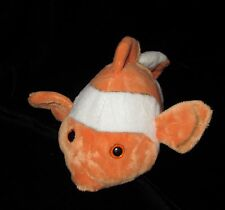 Wildlife Artists Clown Fish Orange White Plush Soft Toy Stuffed 2011 12""