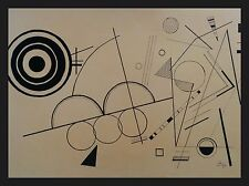 Kandinsky signed painting ink, gouache on paper