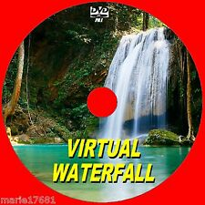 RELAXING VIRTUAL WATERFALL DVD VIDEO VIEW ON FLATSCREEN, PLASMA, LED TV/PC NEW