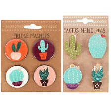 Fridge Magnets & Memo Pegs Boho Magnets And Cactus Pegs  Pack Of Two