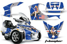 AMR Racing Can Am BRP RTS Spyder Graphic Kit Wrap Street Bike Decal TBOMB BLUE