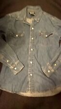 Polo Jeans Co Ralph Lauren  Shirt Fitted Wrk Shirt Long Sleeve Size S Pearl Btns