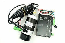 1Set 400W 48v 12000RPM Brushless Air-cooled DC Motor with Driver High Speed Long
