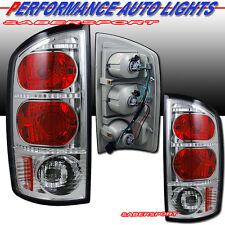 2002-2005 DODGE RAM 1500 PICKUP ALTEZZA TAIL LIGHTS CHROME BULBS INCLUDED PAIR