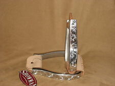 Showman Polished Aluminum Engraved Barrel Stirrups Show Stirrups Western Horse
