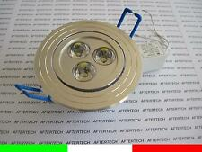 10 PROYECTORES EMPOTRABLE LED 3X1w 3w BLANCO FRÍO 220v