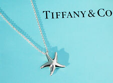 Tiffany & Co Elsa Peretti Sterling Silver Small Starfish Pendant Necklace