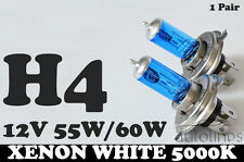 2x H4 60W / 55W 5000k 12V Xenon Blue/White High/Low Beam Headlight Globes Bulbs