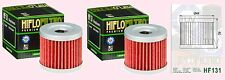 2x HF131 Oil Filter for Suzuki ATV LT LTZ LTZ90   LT-Z90  Quadsport  2007-09