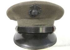 post-WWII Era USMC Officer's Visor Service Cap or Hat w/EGA Device - Size 6 5/8