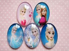 20 Round Frozen Inspired Let It Go Cabochon 30mmX20mm-Mix RA046