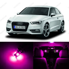 12 x Pink/Purple LED Interior Light Package For 2006 - 2013 Audi A3 S3 8P
