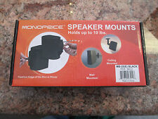 2 SPEAKER MOUNTS - MADE BY MONOPRICE MB-20(E) IN BLACK - HOLDS UP TO 10 POUNDS